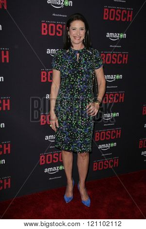 LOS ANGELES - MAR 3:  Mimi Rogers at the Bosch Season 2 Premiere Screening at the Silver Screen Theater at the Pacific Design Center on March 3, 2016 in West Hollywood, CA