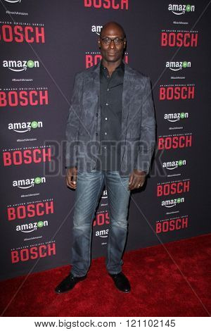 LOS ANGELES - MAR 3:  Lance Reddick at the Bosch Season 2 Premiere Screening at the Silver Screen Theater at the Pacific Design Center on March 3, 2016 in West Hollywood, CA