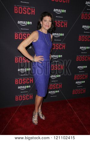 LOS ANGELES - MAR 3:  Amy Aquino at the Bosch Season 2 Premiere Screening at the Silver Screen Theater at the Pacific Design Center on March 3, 2016 in West Hollywood, CA