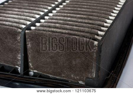 Old dirty car air filter