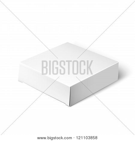 White Package Box. Mockup Template