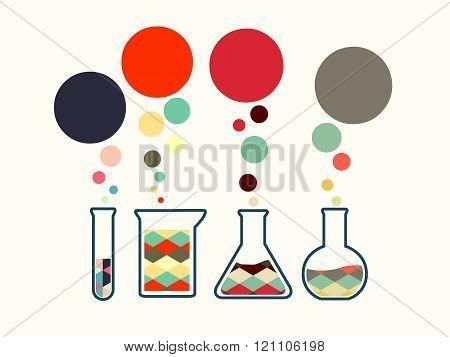 Vector illustration of icon beaker