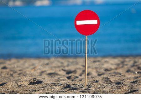 Road Sign Beach