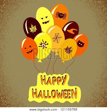 Halloween background with balloons.