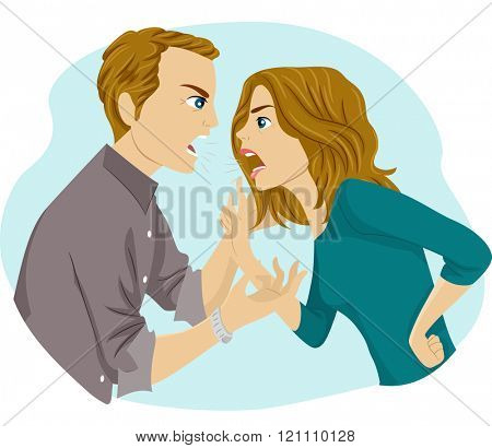 Illustration of a Couple Having an Argument