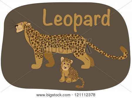 Leopard whith child