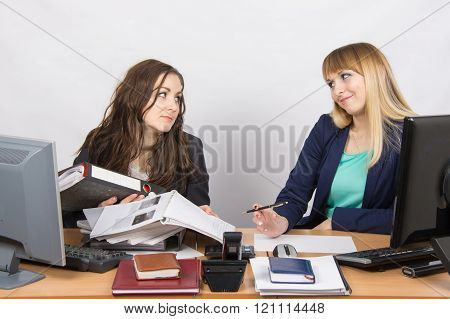 The Situation In The Office - One Employee Overburdened, The Other Does Nothing