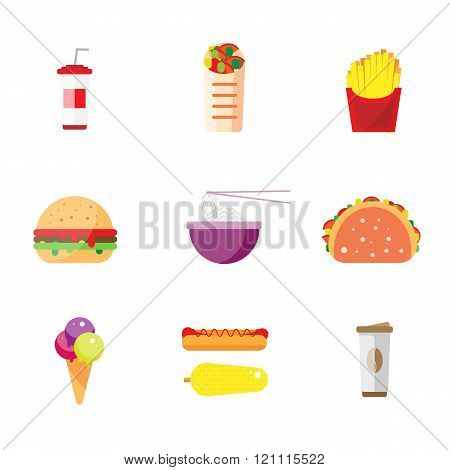 Street food flat design