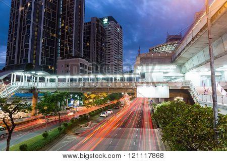 Bangkok Street Scene At Night