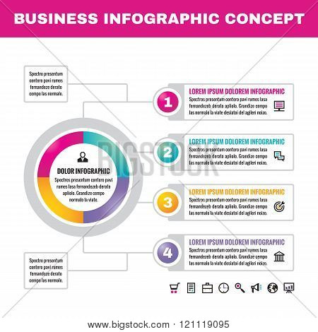 Infographic business concept vector illustration. Creative infographic layout.