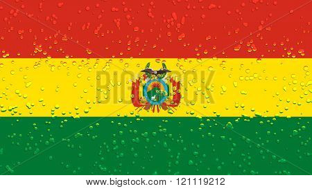 Flag of Bolivia , Bolivian flag with water drops