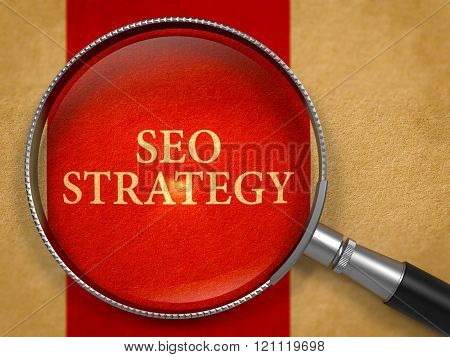 SEO Strategy through Lens on Old Paper.