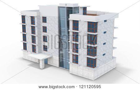 3D Contemporary Apartment Block