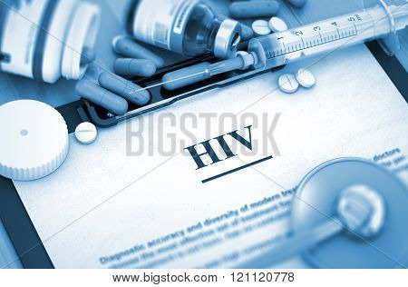 HIV. Medical Concept.