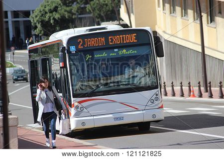 Modern City Bus Van Hool A330 In Monaco