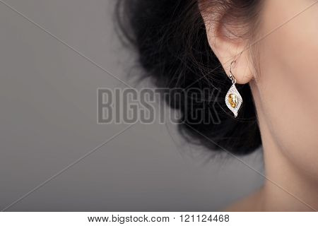 Close up Detail of a Beautiful Earring in Glamour Shot