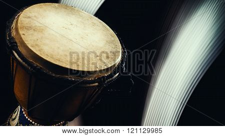 Wooden Djembe Closeup