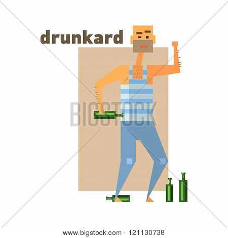 Drunkard Abstract Figure