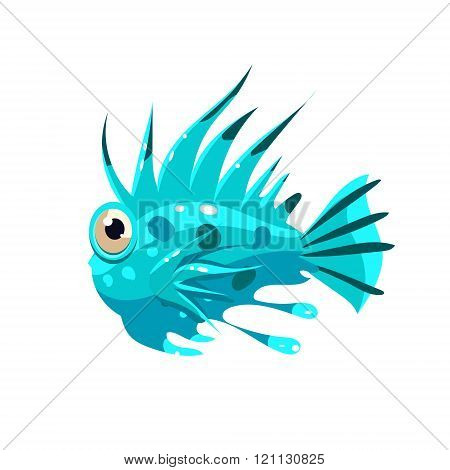 Prickly Fish. Vector Illustration