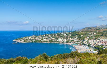 Public Beach Of Gaeta Resort Town, Italy