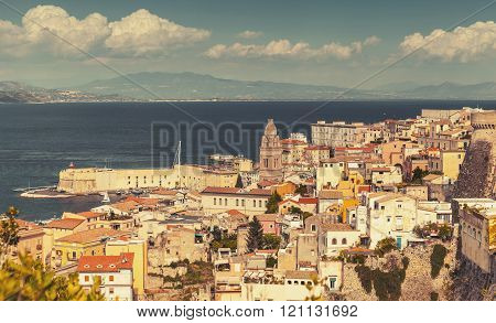Cityscape Of Old Part Gaeta Town, Vintage