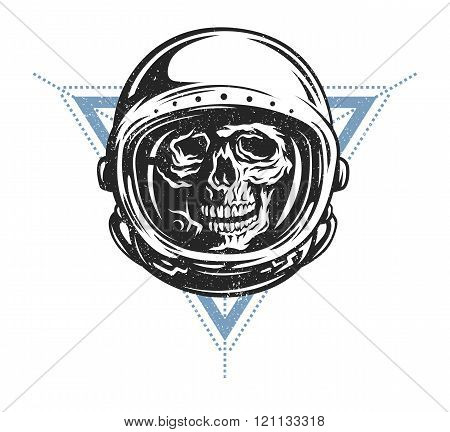 Dead astronaut in spacesuit.