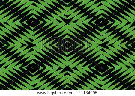 Green Tiled Spiky Pattern