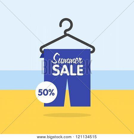 Summer seasonal sale, discounts and sales