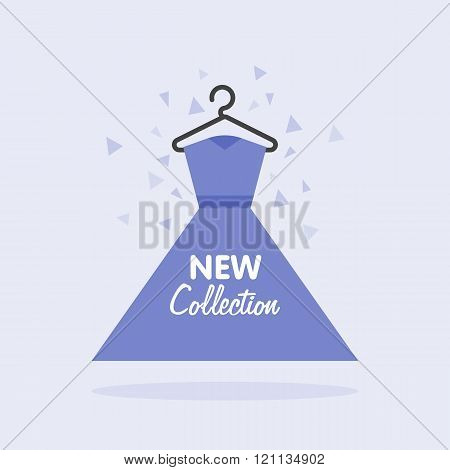 Sales of womens clothing collection. Vector