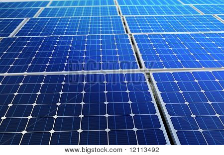 concept of solar cell battery harness energy of the sun