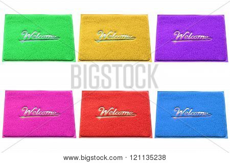 Group of colorful doormat