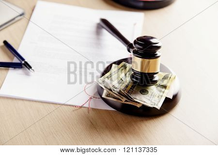 Money And Gavel.