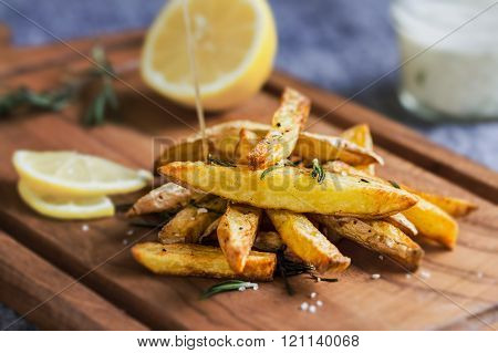 Potato Wedges With Rosemary And Sea Salt