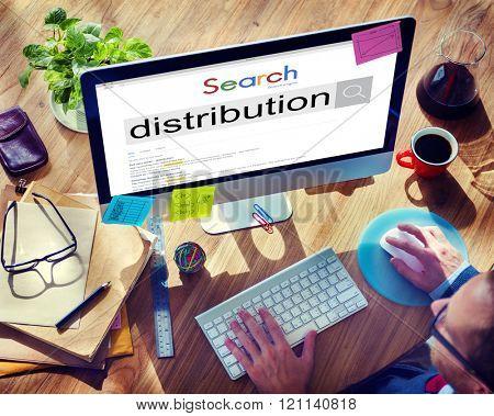 Distribution Distribute Distributed Distributor Concept