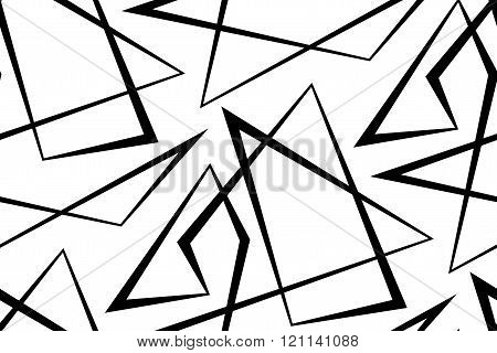 Abstract seamless white background of black lines.