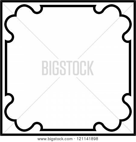 Border frame plaque deco banner vector