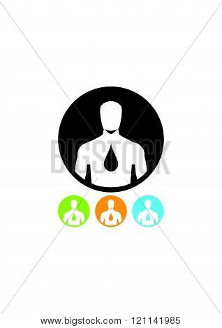Human body hydration icon