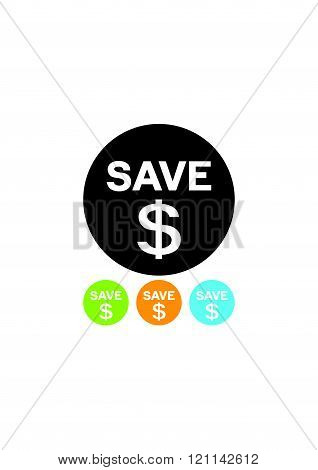Save your money vector icon