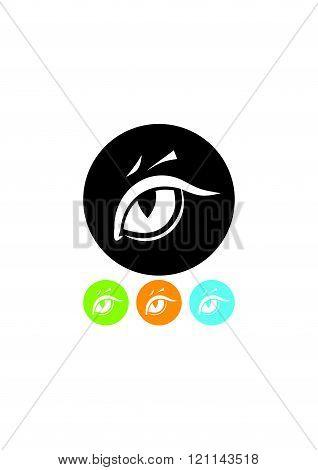 Tiger eye vector