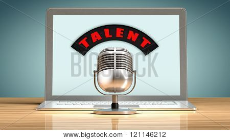 Talent recruitment through the internet