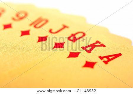 Golden poker cards