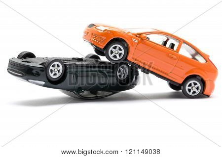 Accident Two Cars Isolated