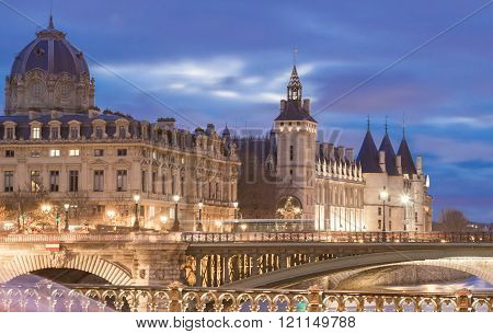 The Conciergerie Castle, Paris, France.