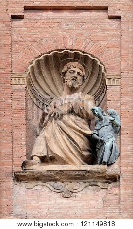 BOLOGNA, ITALY - JUNE 04: Saint Matthew the Evangelist, Church of SS. Salvatore. Bologna. Emilia-Romagna. Italy, on June 04, 2015.