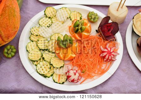 Carved Fruits And Vegetables