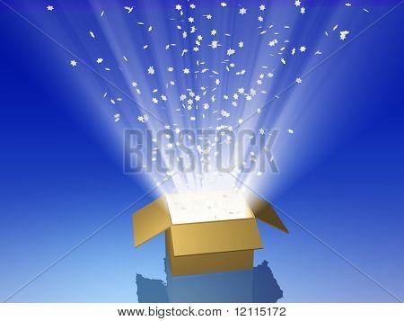 Magic box, animated