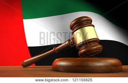 Uae Law Legal System Concept