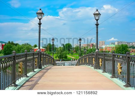 Bridge In Tsaritsyno Park In Moscow