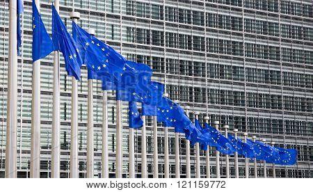 Eu Flags Brussels