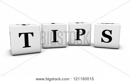 Tips Sign On Cubes